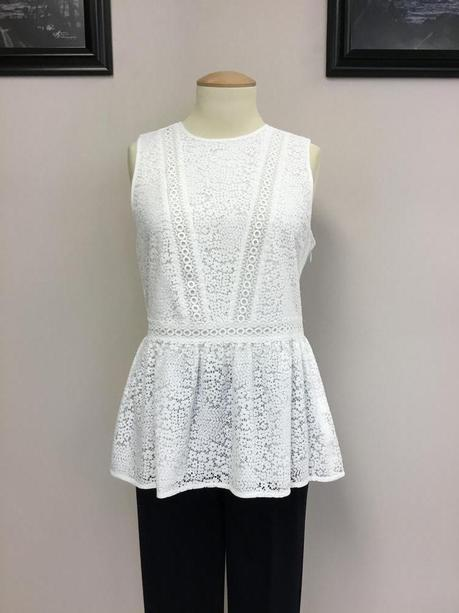 0f3da14b5846 This pretty and feminine MICHAEL MICHAEL KORS sleeveless blouse is a lovely  addition to your spring and summer wardrobe! The pretty lace and the  beautiful ...